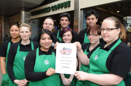 The Best Of Swindon Advertiser Awards, Coffee shop - Starbucks Coffee Shop.