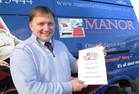 The Best Of Swindon Advertiser Awards, Furniture Retailer - Manor Furniture