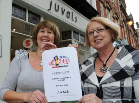 The Best Of Swindon Advertiser Awards - Boutique , Juvals