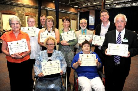 Unsung heroes of Swindon received praise for their selfless contributions to the community in a glittering awards ceremony