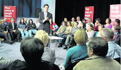 Ed Miliband aims to win back Swindon