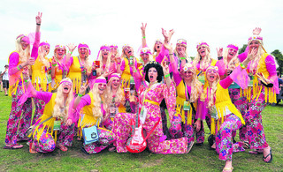 Helen Edwards' hen party at Summer Breeze