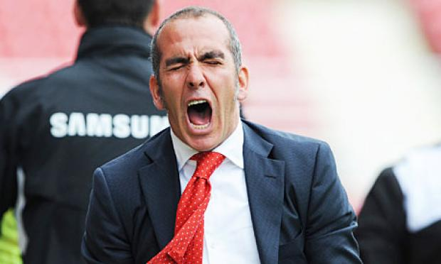Paolo Di Canio celebrates Town's winner last Saturday