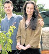 Julie Pemberton and her son Will