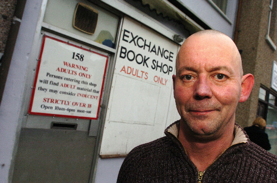 Peter Wannell at the Exchange Book Shop in Gorse Hill Picture Ref: 200424