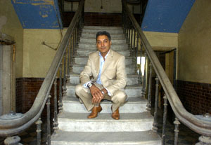 Owner Mathew Singh inside the Mechanics' Institute