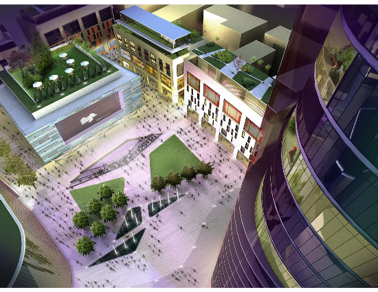 An artist's impression of the Exchange, one of the developments planned for Swindon