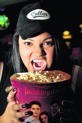 Renee McCrea gets in the mood for the Twighlight Breaking Dawn premier at Empire Cinema Greenbridge