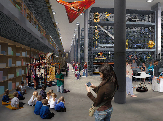 An artist's impression of how the science museum might look