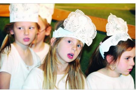 Young ones from Shaw Primary and Longleaze Primary schools have fun in the Swindon Nativities 2011