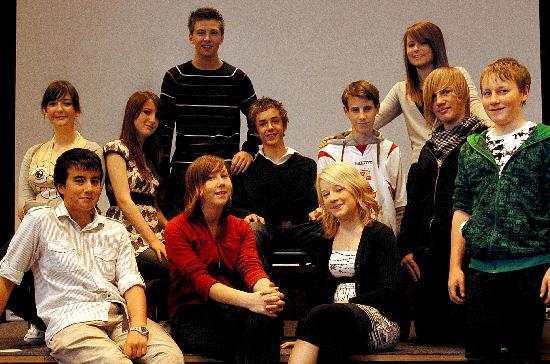 Some of the young people who worked on the film