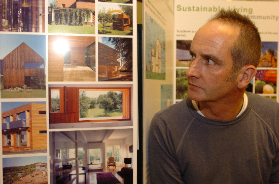 Kevin McCloud hears people's views about his eco-homes plans