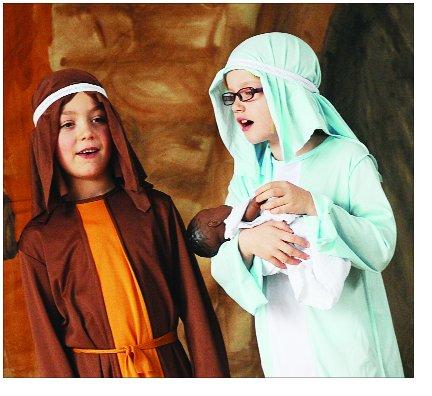 Pupils have fun recreating the Christmas story