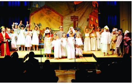 Pupils celebrate Christmas with a traditional nativity play
