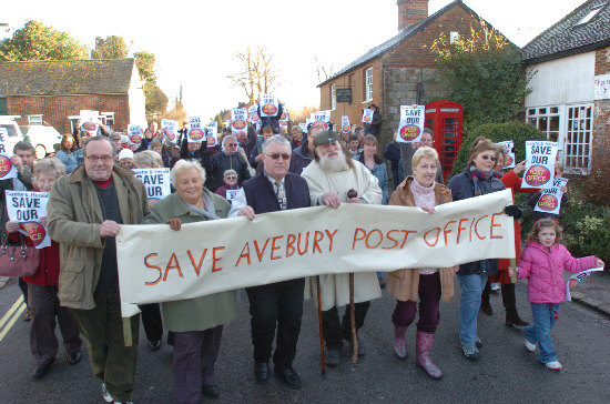 Residents of Avebury united in their battle to keep the post office open