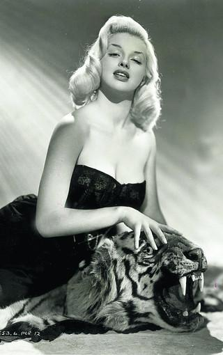 Swindon Advertiser: A typical Diana Dors pose, in a picture taken at the height of her movie glory days