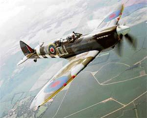 The Merlin engine was fitted to the Spitfire plane
