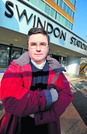 MP Robert Buckland at Swindon Railway Station