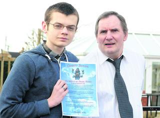 Tom Walters, 16, is doing a charity skydive on behalf of Frank Hanks who has a rare form of Parkinsons