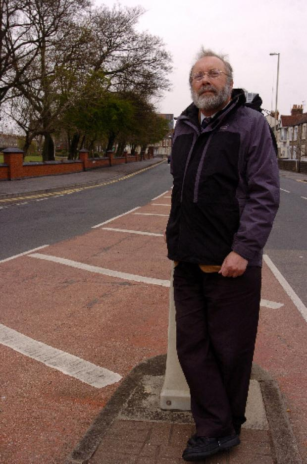 Swindon Advertiser: Steve Allsopp, who is presenting the motion, pictured in Faringdon Road which is on the route of the proposed canal