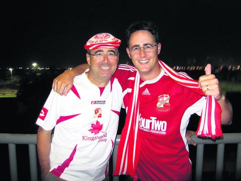 Dubai-based Mark Bull and his dad Andy will be at the match