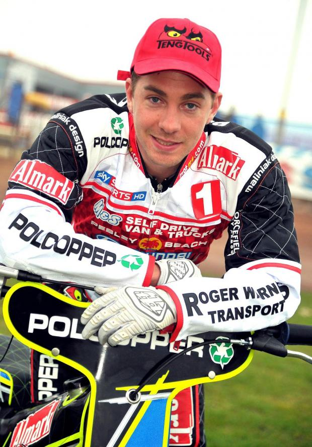 Swindon Robins rider Troy Batchelor