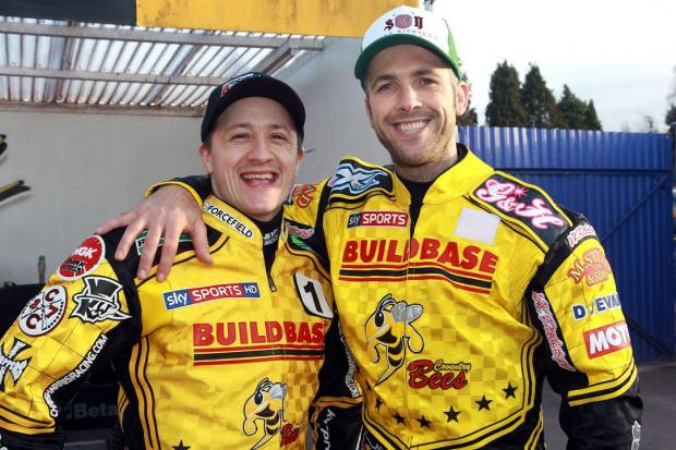 Coventry stars Chris Harris, left, and Scott Nicholls. Picture - Jeff Davies