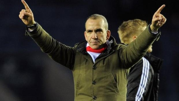 Paolo Di Canio celebrating another Town win on Tuesday night