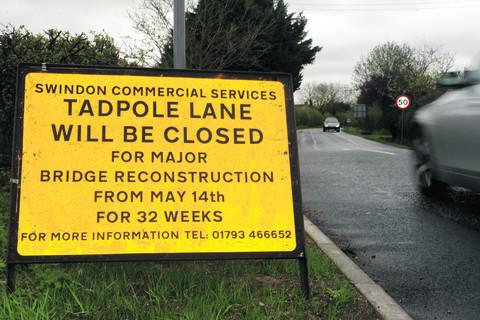 Tadpole Lane to reopen at 5pm today