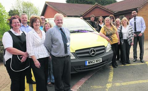 Members of AWP and SUNS with the new minibus