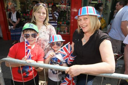 Holiday atmosphere as the famous Olympic Torch is paraded through Wiltshire