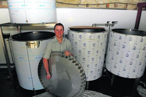 Landlord Tom Gee in the new micro-brewery at the Red Lion, in Cricklade