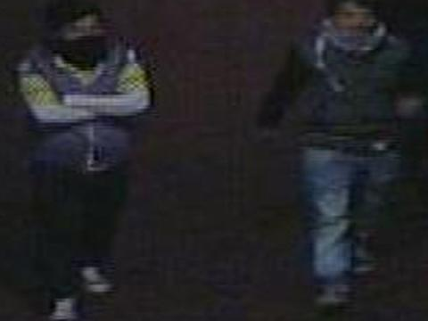 CCTV images of youths police would like to speak to in connection with the incident