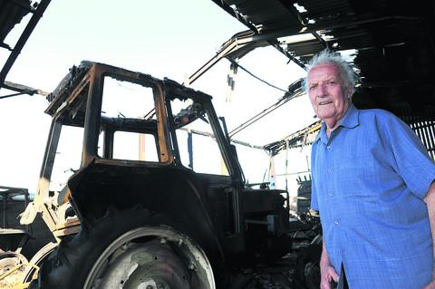 Geoffrey Plaister, the owner  of the fire damaged barn at Diana Lodge Farm , Collins Lane , Purton