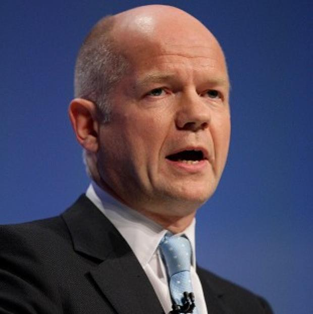 Foreign Secretary William Hague says international pressure on the Syrian regime will continue to be increased