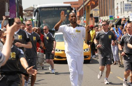 Olympic Games 2012 - torch pass through Wroughton