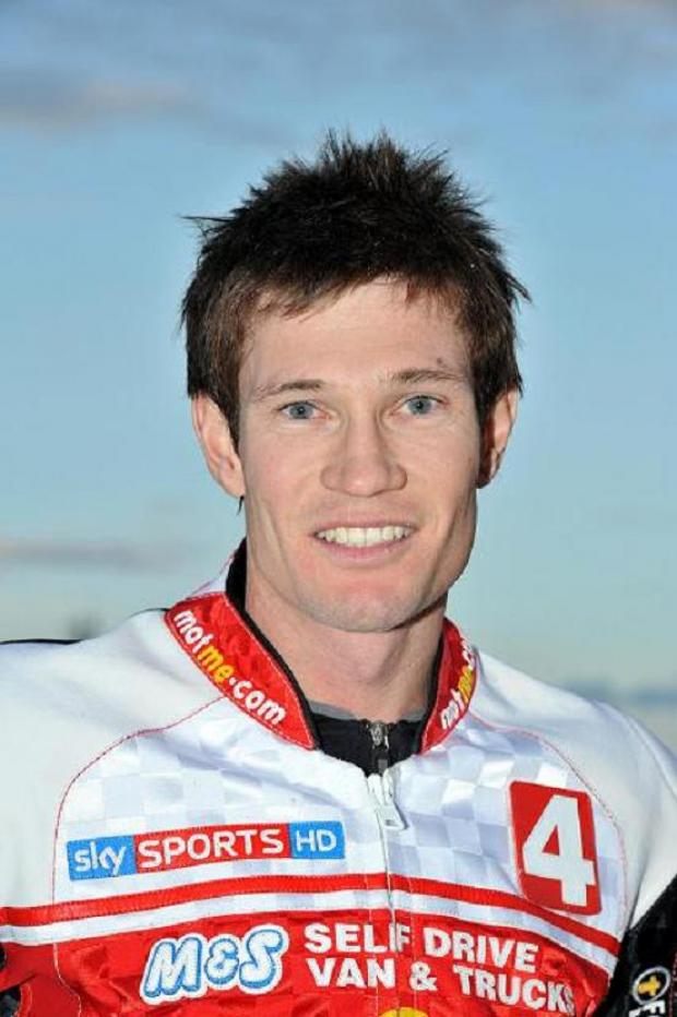 Swindon Robins rider Jason Doyle