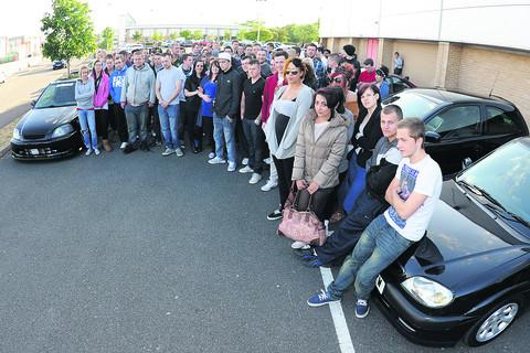 Friends met at Matalan car park in Greenbridge on Friday night to remember Costi Voulgaris, who died in a car accident last week
