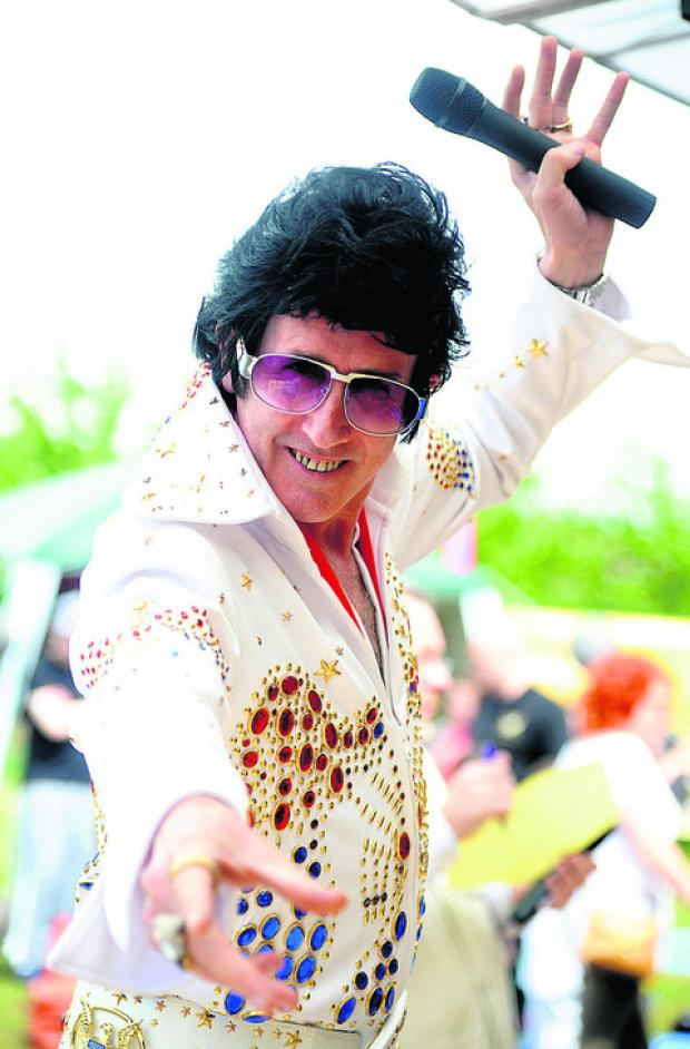 Elvis impersonator Robert Barrow at last year's Toothill Festival