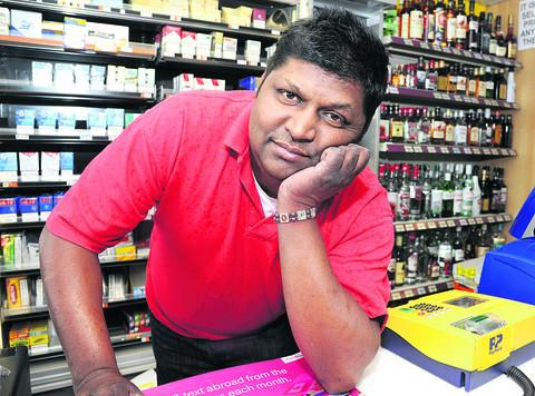 Jeyam Anthony says takings at Costcutter in Queensfield have fallen by as much as £400 a day