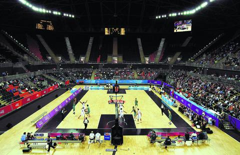 The new basketball arena to be used for the London Olympics which was visited by delegates from Swindon this week