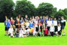 Contestants and helpers for the Olympics-themed event at Highworth Warneford School