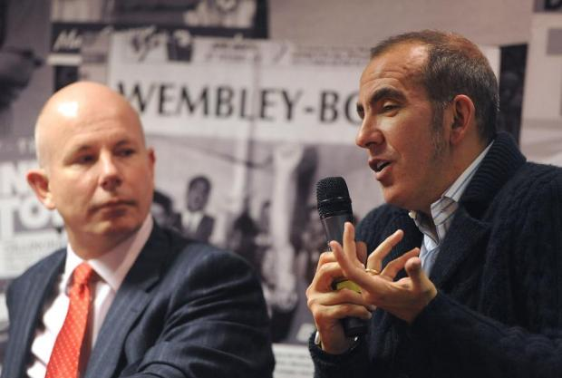 KEEPING AN EYE ON THINGS: Jeremy Wray, left, and Paolo Di Canio