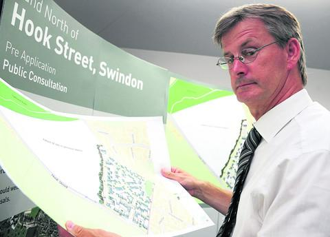Planning director Glenn Godwin at the Hook Street consultation today
