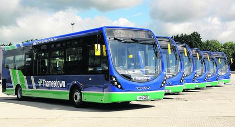 Thamesdown took delivery of six new buses last month
