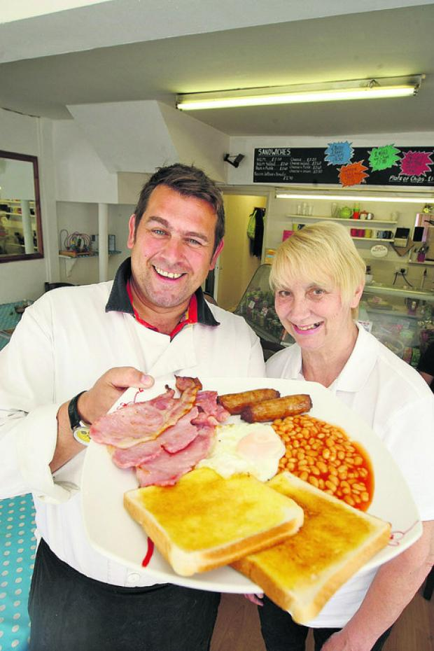 Kevin Brasier-Dinning and Jennifer Dinning who are leaving the Old Town Cafe