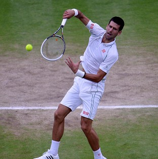 Novak Djokovic, pictured, faces Andy Murray for a Olympics men's tennis singles final place