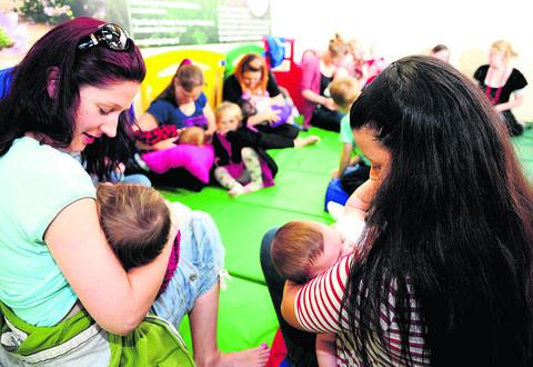 The Big Latch On breastfeeding event at Lydiard Park
