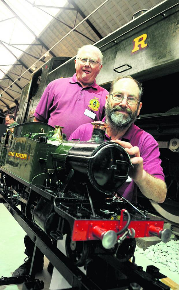 Terry Gooding, left, and Ken Parker at last year's Railway Festival