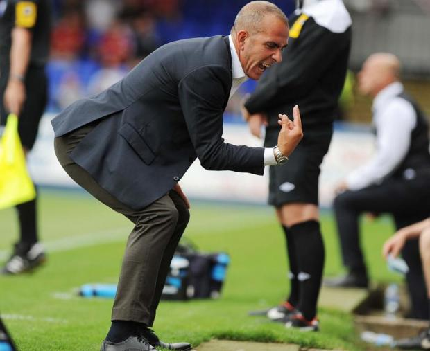Paolo Di Canio expresses his anger at Hartlepool